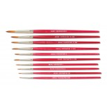 Finest Quality Tapered Synthetic Red Sable Pointed Water Color Brushes