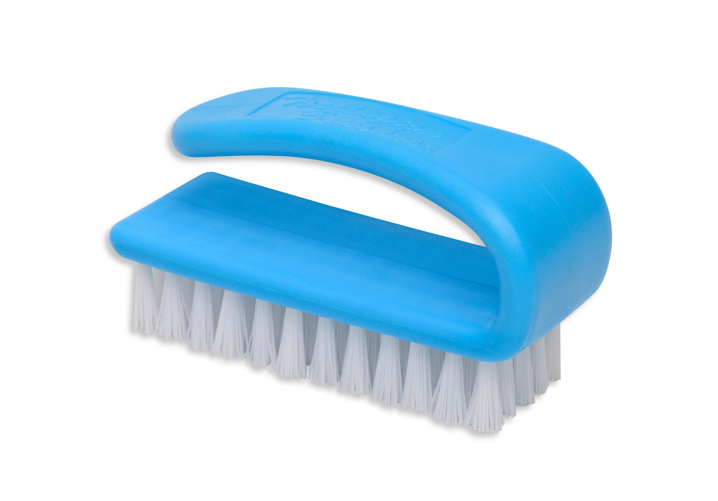 Item 04835 White Nylon 3 Finger Nail Brush